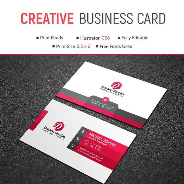 Business card template design vector creative modern abstract business card template design vector creative modern abstract reheart Images