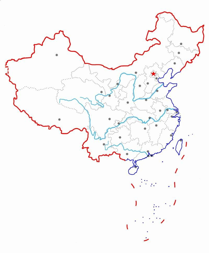 Rivers Map Of China.Blank Map Of China Printable Free Interested In China Blank Map