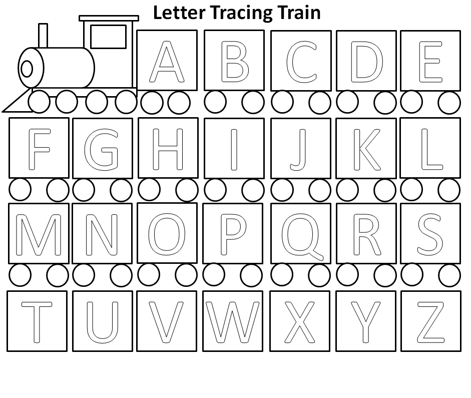 the country cheapskate letter tracing train activity free printable http