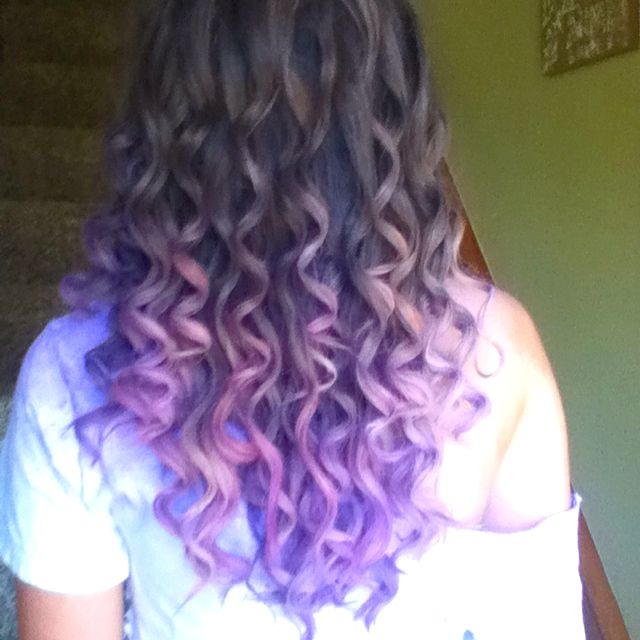 purple prom hair long