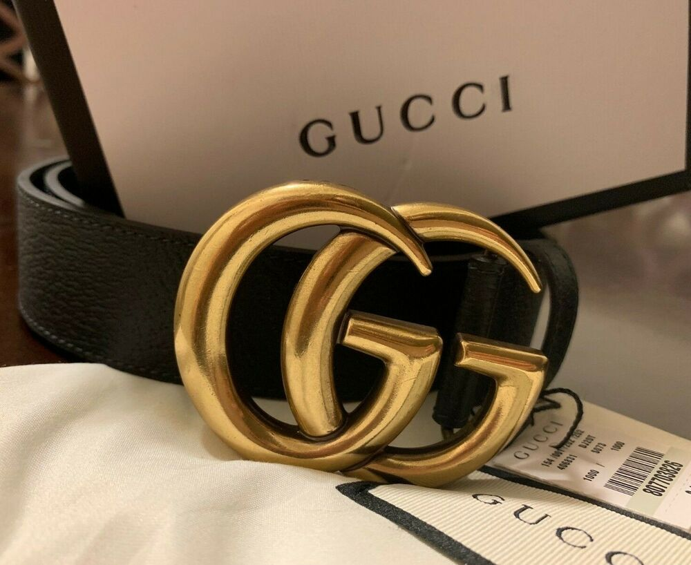 edc501b39d9 Black Gold Gucci GG Buckle Smooth Size 80  fashion  clothing  shoes   accessories  mensaccessories  belts (ebay link)