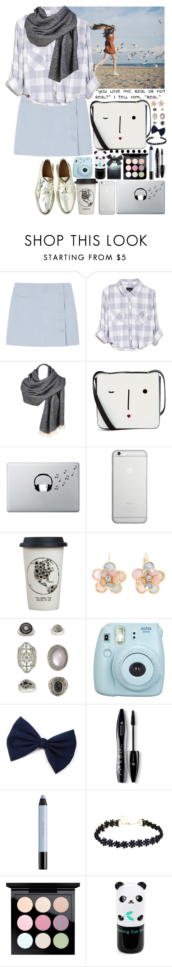 """Moça Esquiva"" by sandrafilipa ❤ liked on Polyvore featuring Rails, Zara, Lulu Guinness, Music Notes, Native Union, Natural Life, Mixit, Topshop, Lancôme and shu uemura"