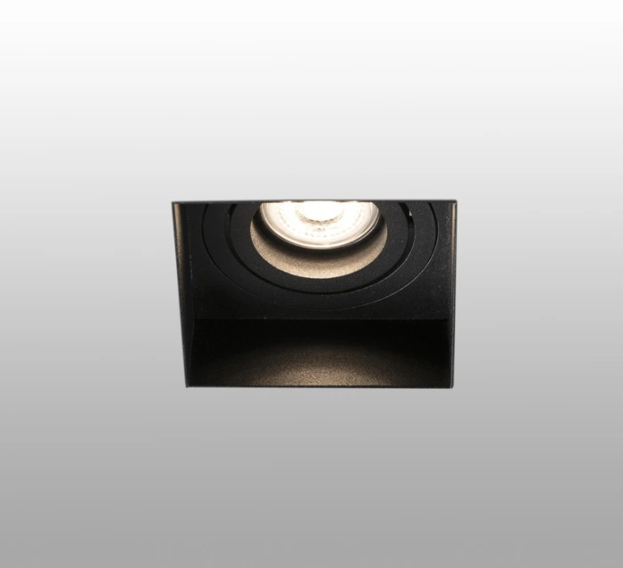 Spot Encastrable Hyde Orientable Trimless Noir Carre L8 2cm H5 5cm Faro En 2020 Spot Encastrable Spots Et Design Espagnol