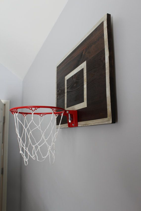 Vintage Designed Basketball Backboard With By Thepaulineffect Boy Sports Bedroom