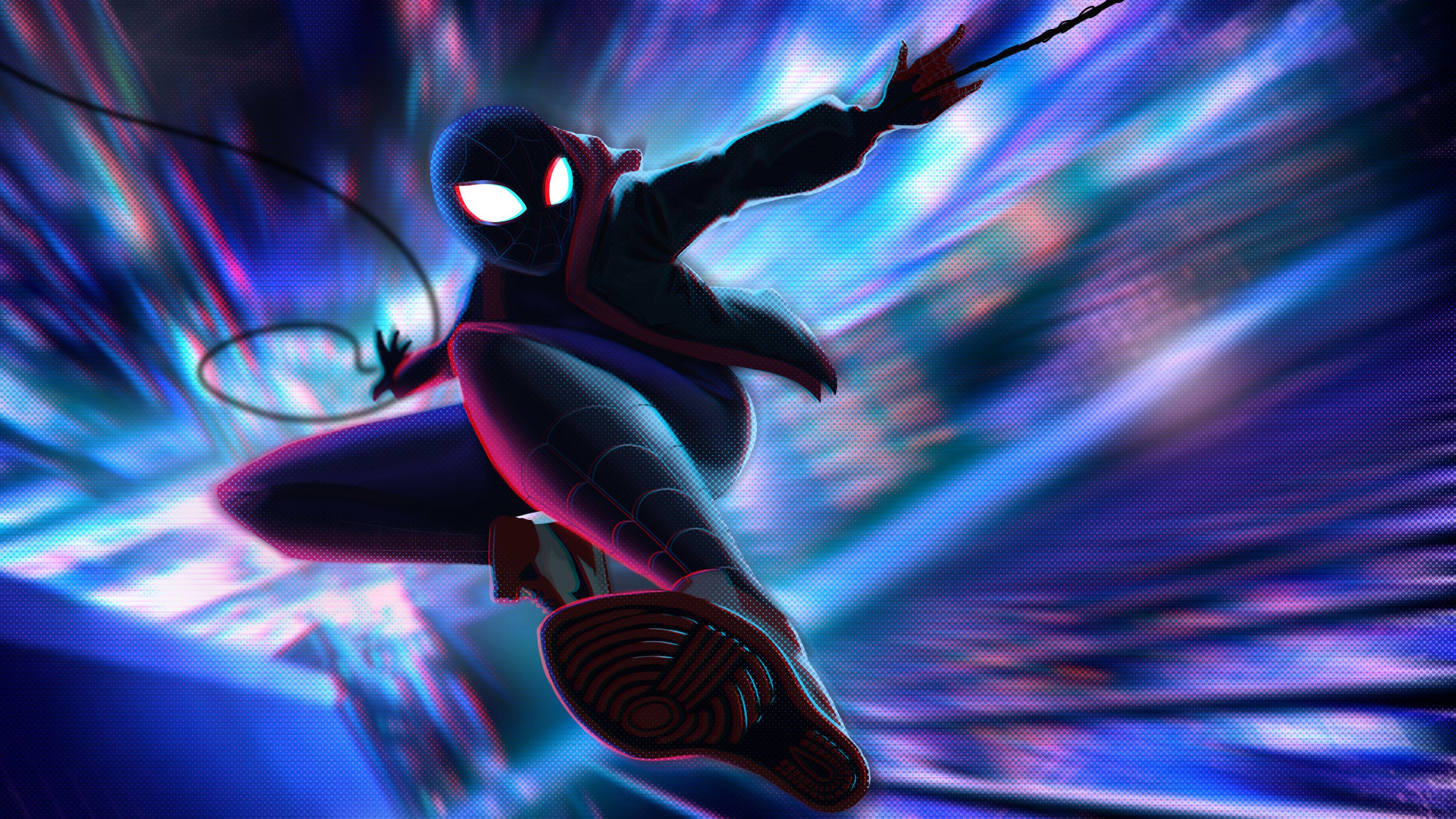 Miles Morales Spider Man Into The Spider Verse 4k 5k Spider Verse Wallpaper Spiderman Into The Spider Verse Wallpaper Into The Spider Verse Wallpaper