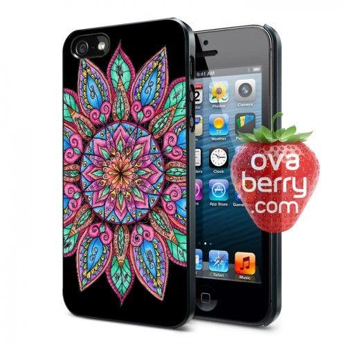 Pink Colorful Mandala iPhone and Samsung Galaxy Phone Case