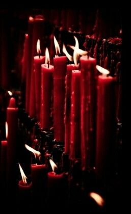Cherry Red candles