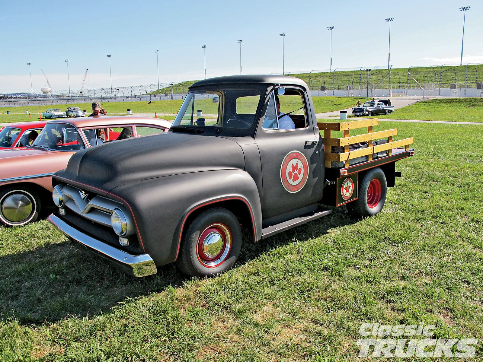 1955 ford stake bed car show goodguys event kansas speedway 1955 ford f100 photo 15
