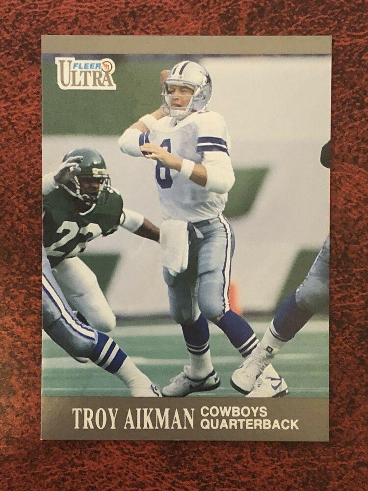 1991 fleer ultra 162 troy aikman dallas cowboys football