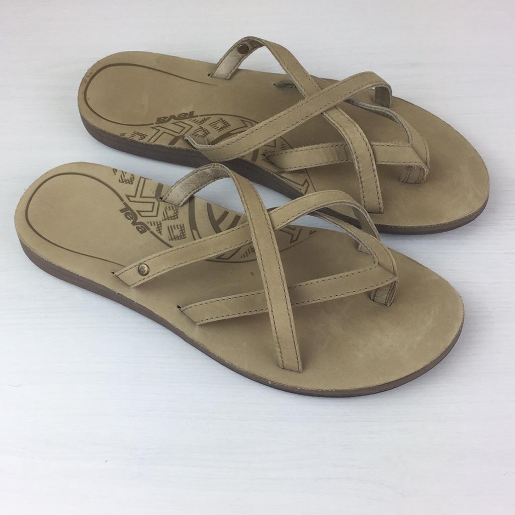 Teva Shoes | Teva Womens Olowahu Leather Flip Flop Sandals