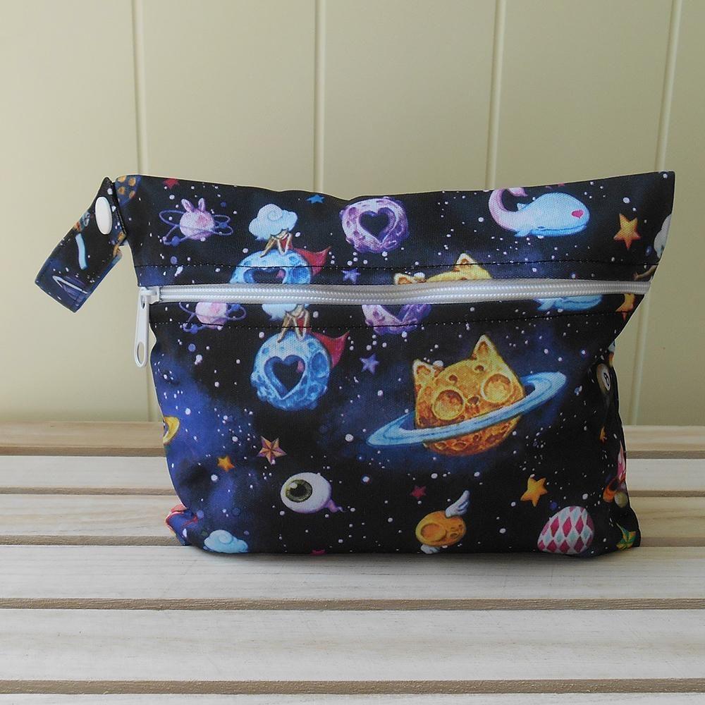 Floral Space Mini Wet Bag Wet bag, Cloth sanitary pads