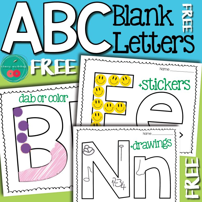 Blank Letter Printable Pages  Free Letter Practice Pages  My Tpt