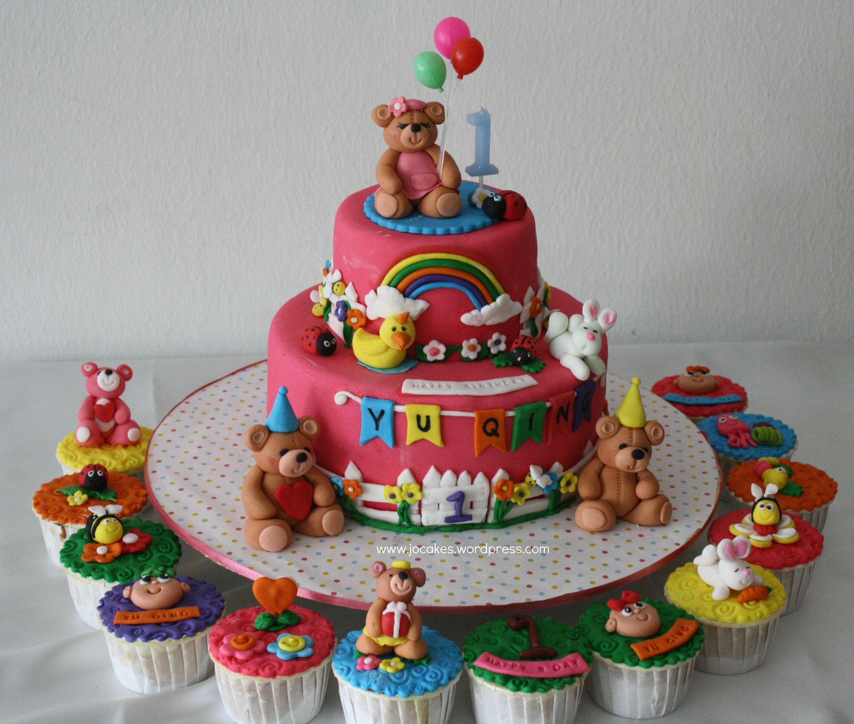 Teddy Bear Cake For  Year Old Girl Teddy Bear Cakes Bear - Bear birthday cake