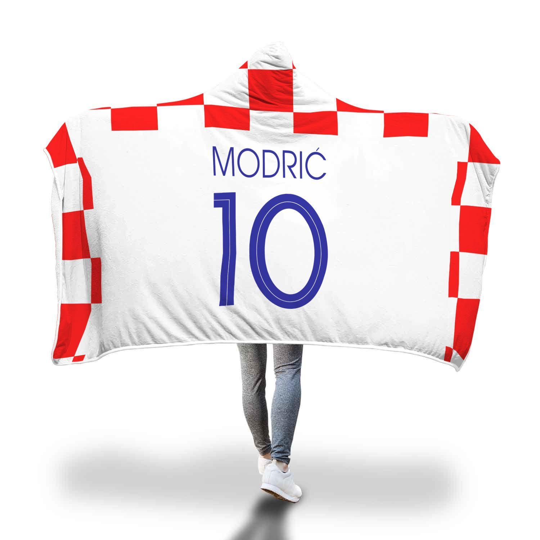 aad64e6c0 Luka Modrić Croatia Home Jersey 2018 Hooded Blanket - FIFA World Cup ...