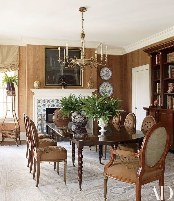 Look Inside Alex Papachristidiss Eclectic Vacation Home In The Hamptons French TableTraditional Dining