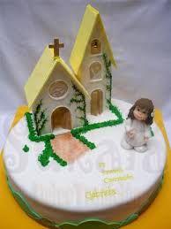 Resultado de imagen para tortas decoradas comunion de nena