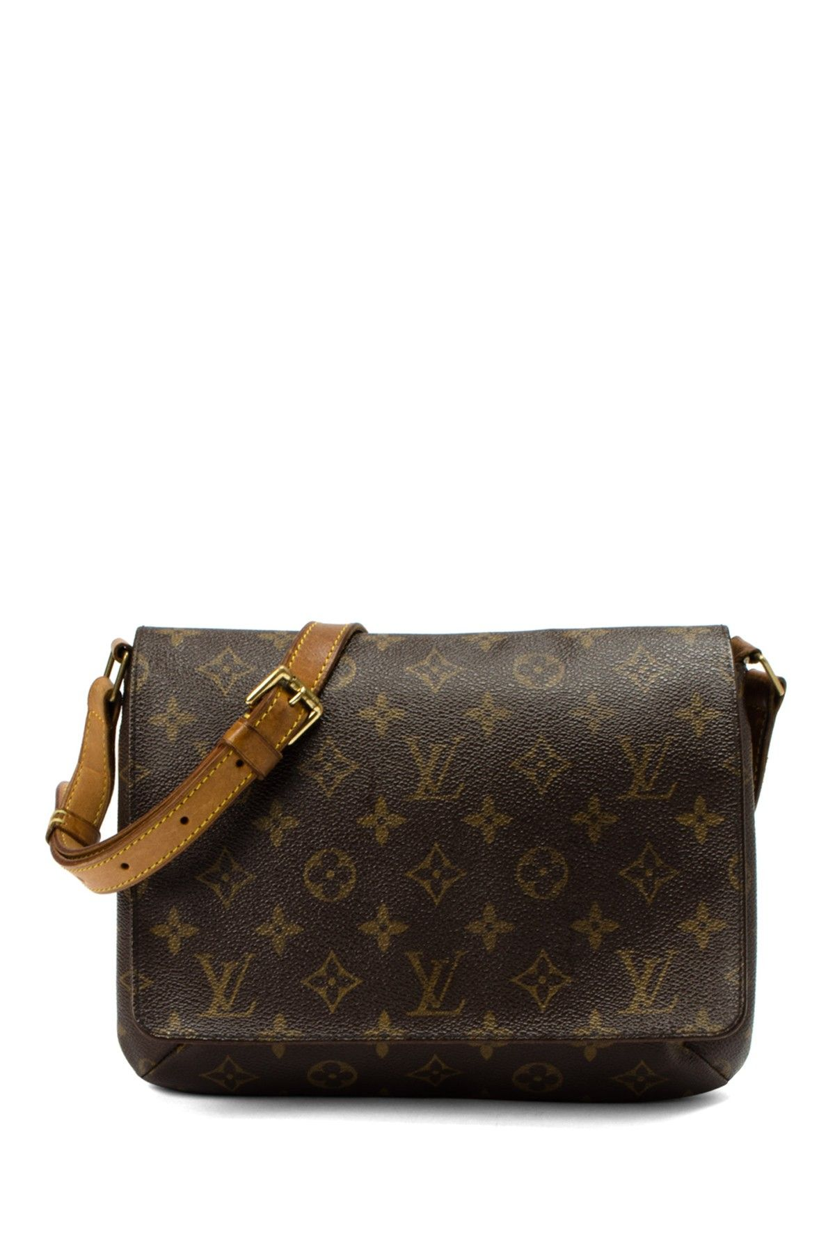 Nuetral crossbody - Vintage Louis Vuitton Leather Musette Tango Short Crossbody