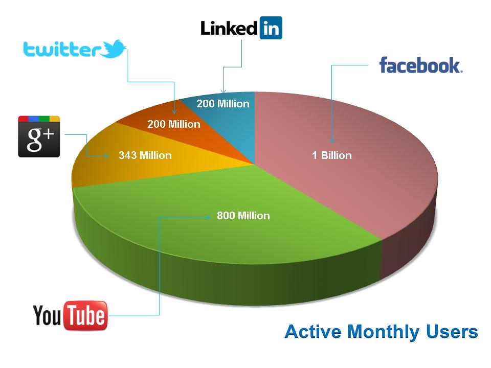 Digital Marketing- Users on different social media platforms