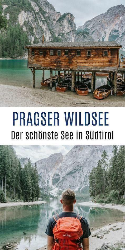 El mágico lago Braies y los tres picos en los Dolomitas