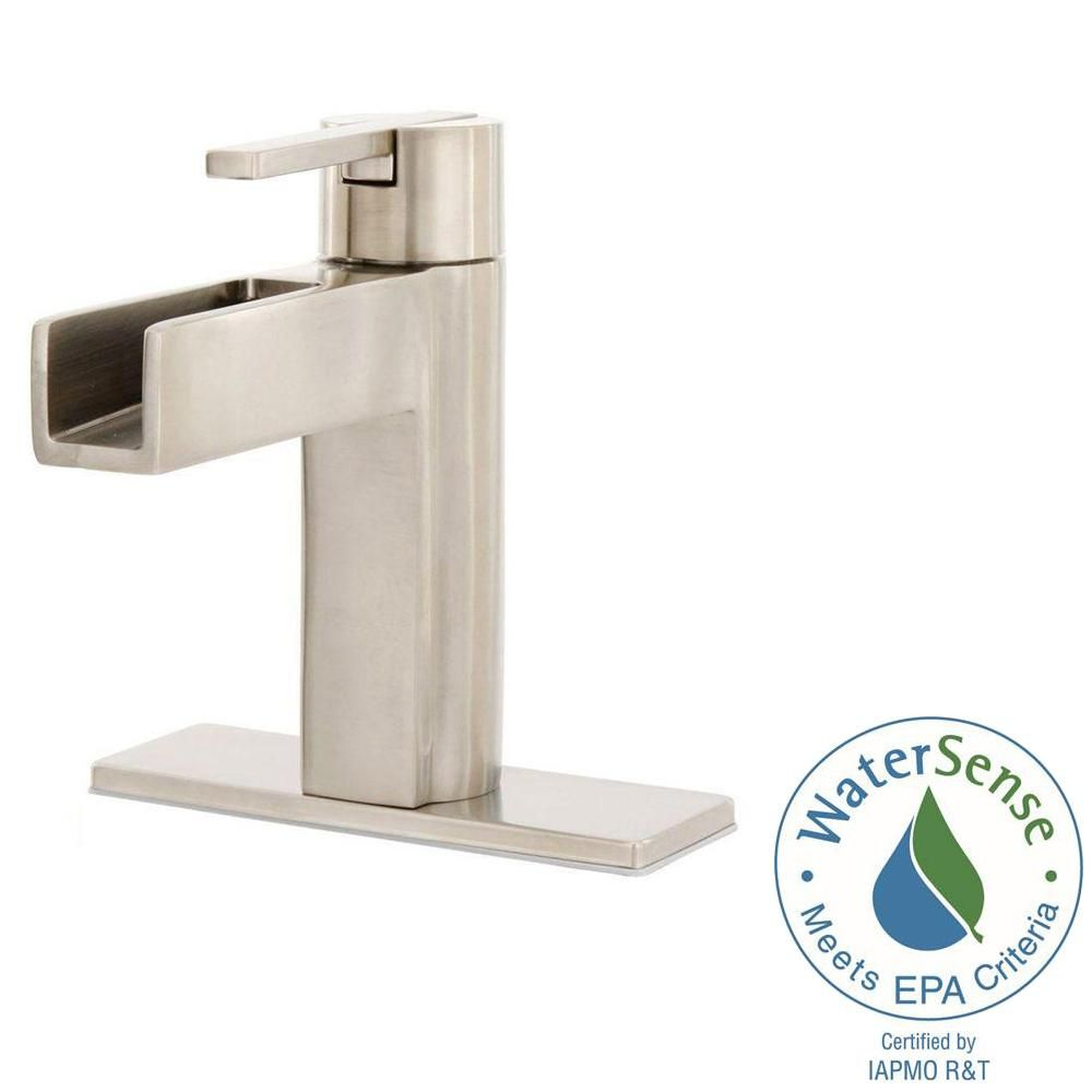 Pfister Vega Single Hole Single Handle Bathroom Faucet In Brushed Nickel  LF 042