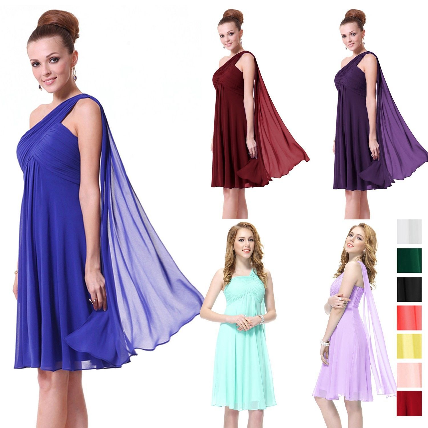 Sexy Mini Women Bridesmaid Dress Evening Cocktail Party Prom Ball Gown new 03537  #fashion style, #Ladies Wear, #clothing, #Dress