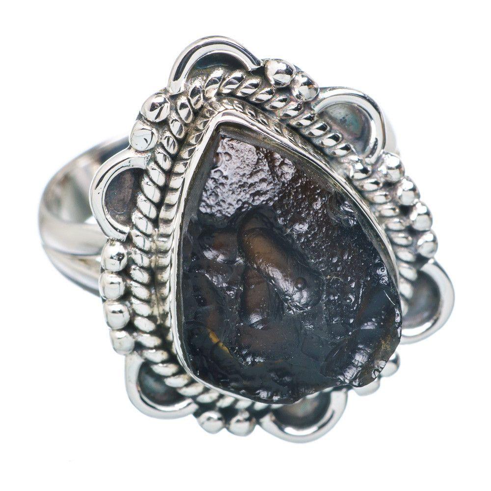 Tektite 925 Sterling Silver Ring Size 7 RING721818