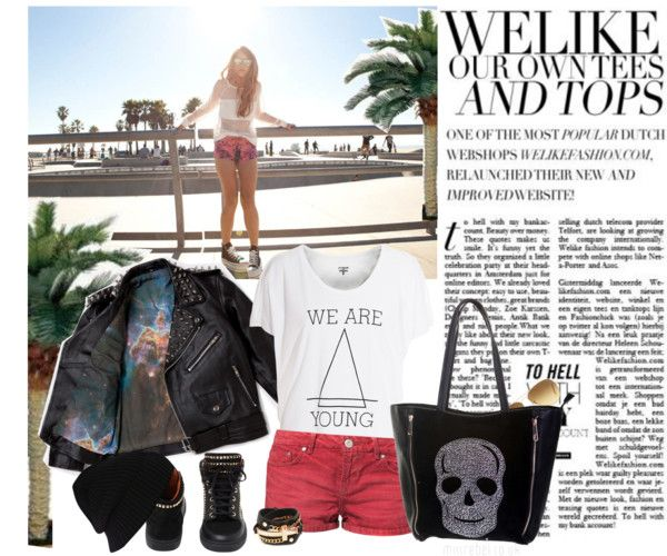 """Venice Beach, anything goes......."" by style-stories ❤ liked on Polyvore"