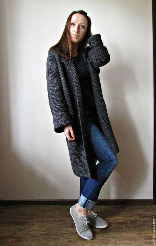 """Кофты и свитера ручной работы. Ярмарка Мастеров - ручная работа. Купить Пальто """"Ishii"""" каш+ мерино+ шелк. Handmade."""