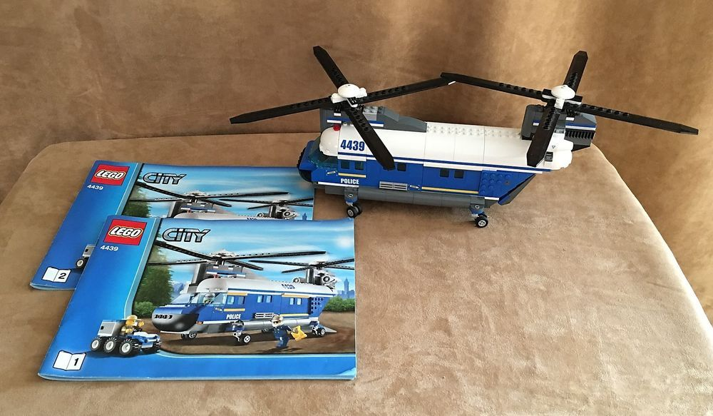 4439 Lego City Heavy-Duty Helicopter complete instructions Forest ...