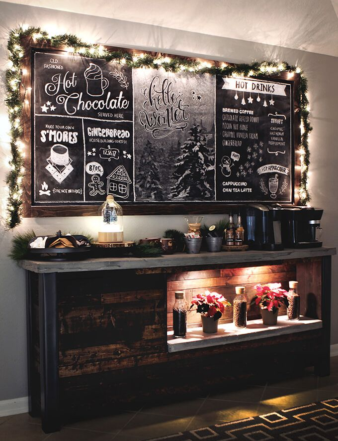 Christmas Coffee Bar Station Kitchen House