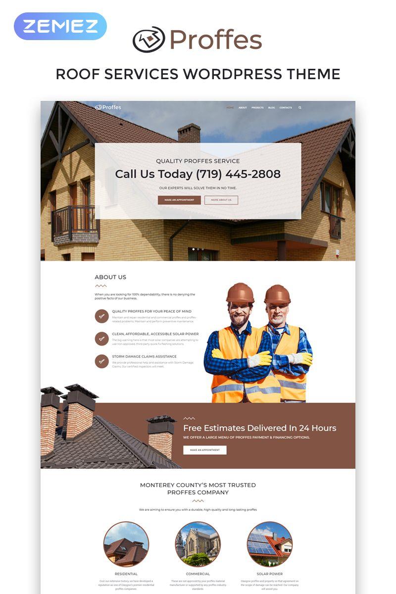 Proffes Roof Services Multipurpose Classic Elementor Wordpress Theme 76355 Roofing Services Wordpress Theme Premium Wordpress Themes