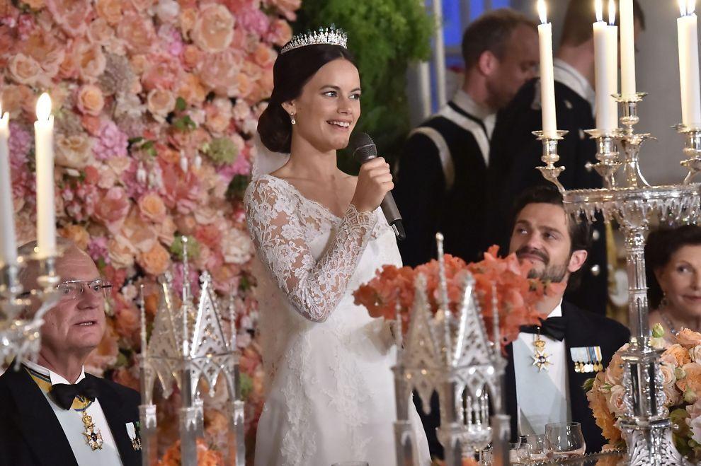 <p>TOK ORDET: Prinsesse Sofia under bryllupsmiddagen i Vita Havet på Kungliga slottet.<br/></p>