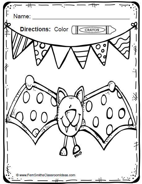 Color For Fun Bats and Spiders