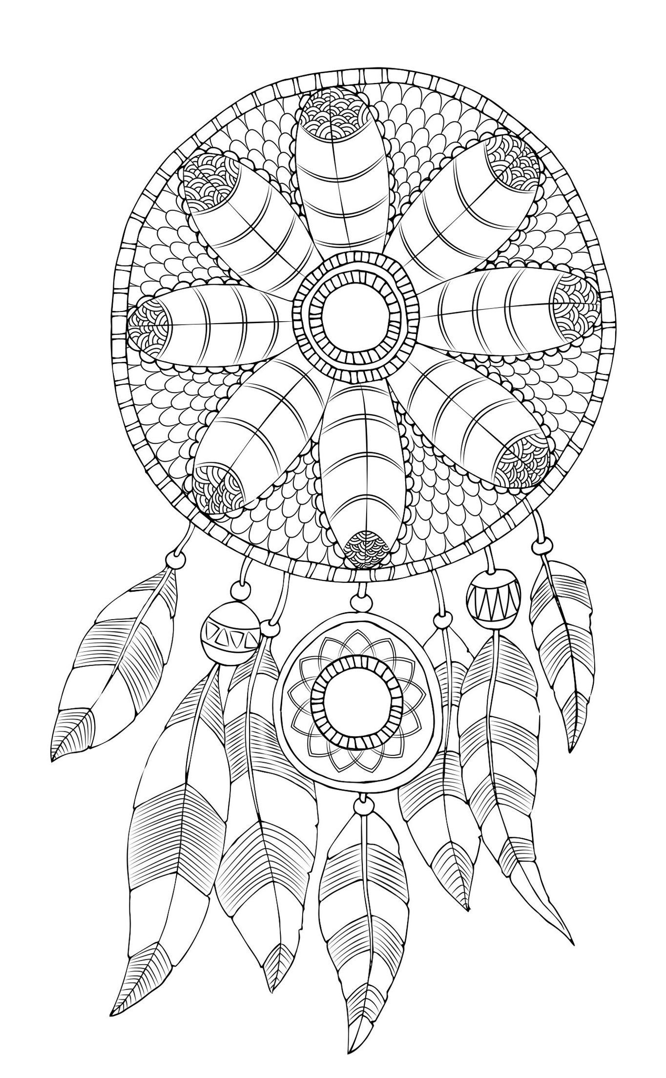 Pin On Mandalas Coloring Videos Dreamcatcher