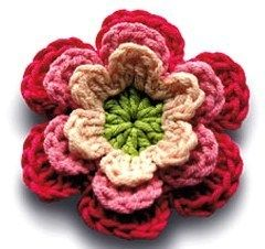 Tutoriel Faire Une Fleur Au Crochet Crochet Crochet Flowers