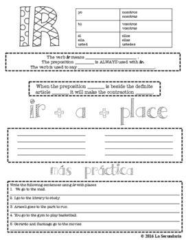 IR Graphic Organizer by LA SECUNDARIA  | Teachers Pay Teachers