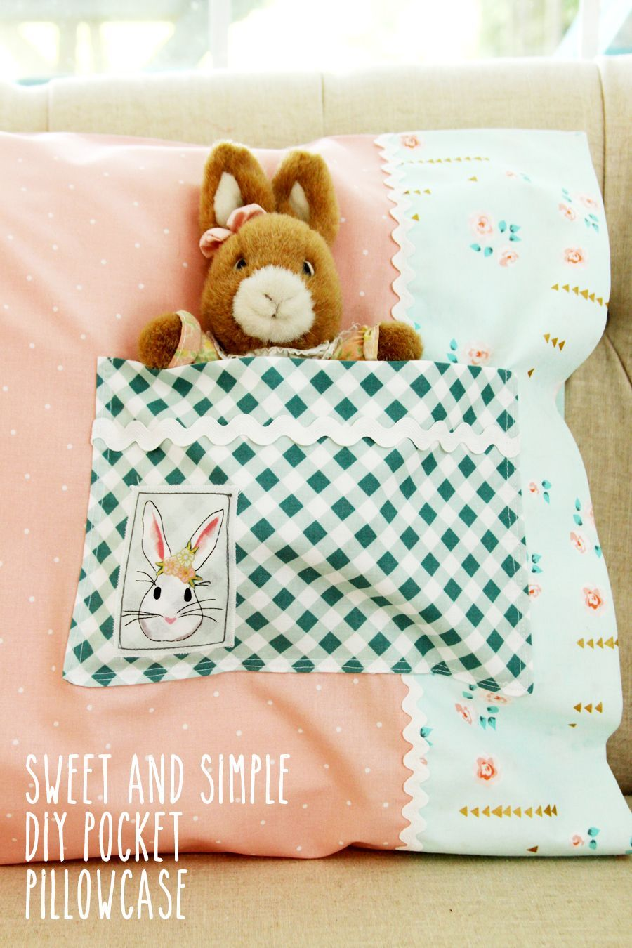 Sweet and simple diy pocket pillowcase sewing pinterest sweet and simple diy pocket pillowcase sewing project jeuxipadfo Choice Image