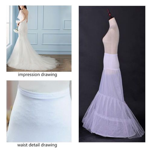 4c851f6006c3 Wedding Dress Petticoat Crinoline A-line Fishtail Mermaid Hoops Slip  Underskirt