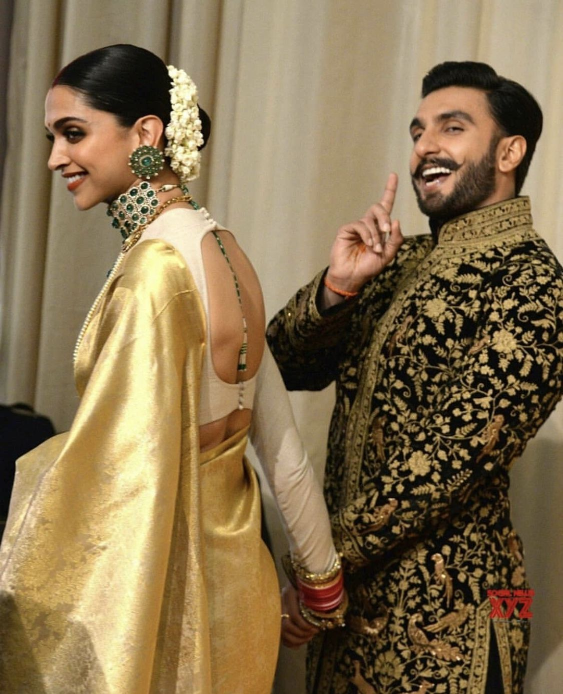 Deepika Ranveer Bangalore Wedding Reception Deepika Padukone Saree Indian Bridal Wear Indian Saree Blouses Designs