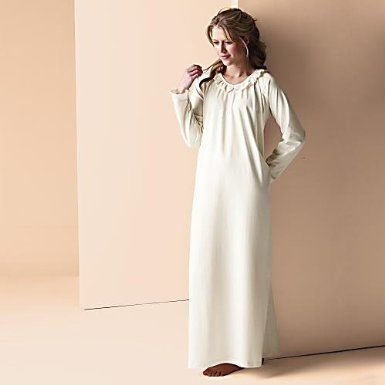 Amazon Com White Organic Cotton Nightgown Clothing