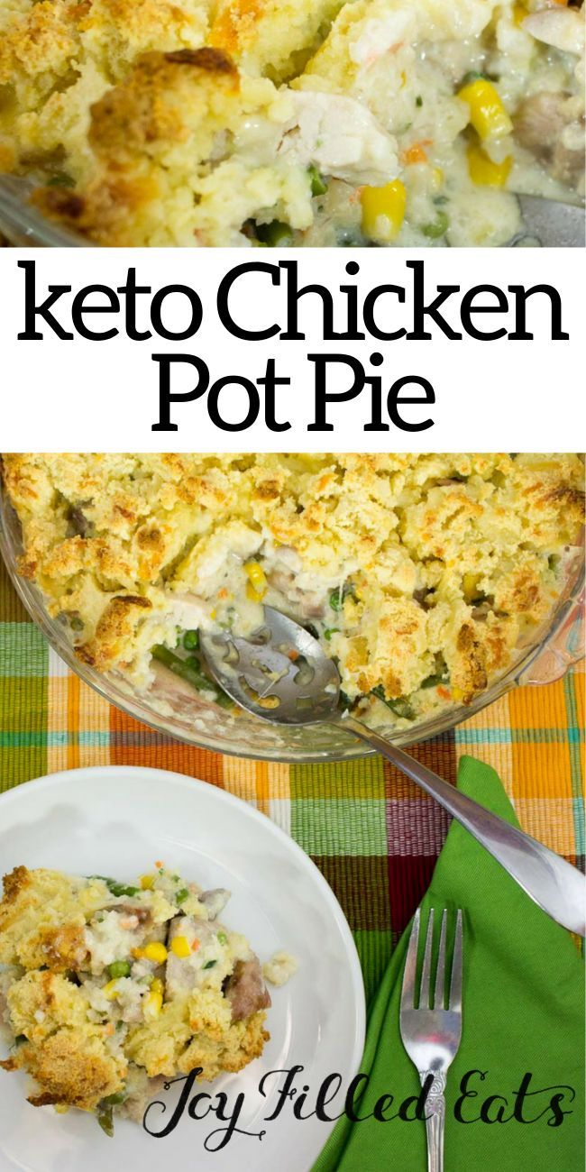 Low Carb Chicken Pot Pie with Biscuit Topping - THM S, Keto