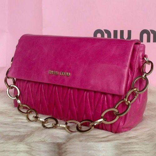 Miu Miu Pressed Matelasse Nappa leather Shoulder Bag RP0350 Rose 1   fashionbag 362465e68165f