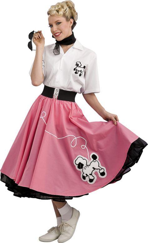 Adult Grand Heritage 50s Pink Poodle Dress Costume