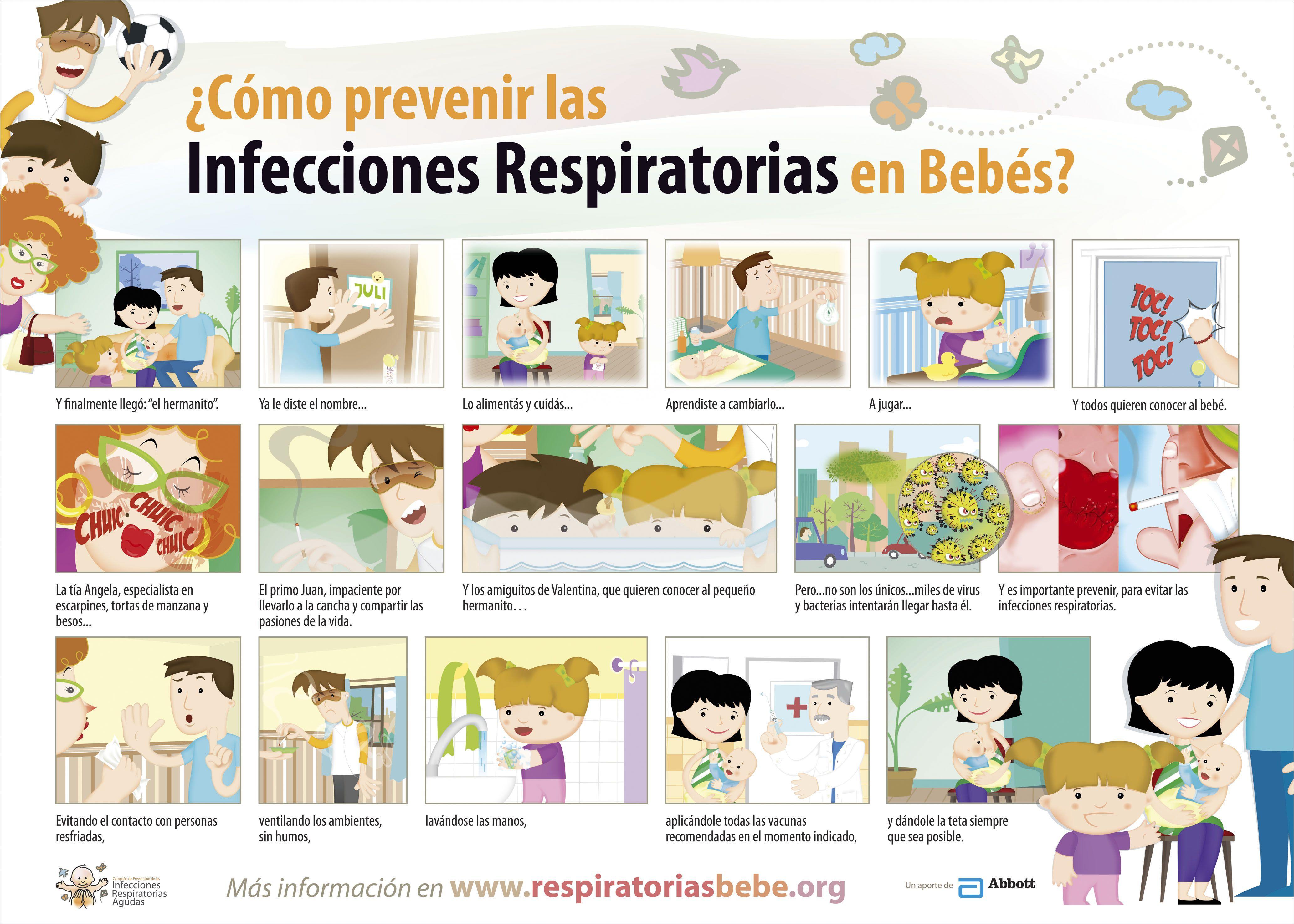¿Cómo prevenir las infecciones respiratorias en bebés