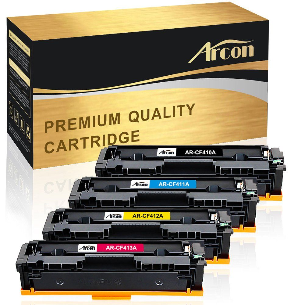 Arcon 4 Pack Compatible For Hp 410a Cf410a Hp 410x Cf410x Toner Cartridge Hp Color Laserjet Pro Mfp M477fnw M477fdn M477fdw M477 M452d Toner Cartridge Printer Ink Cartridges Laser Printer Toner