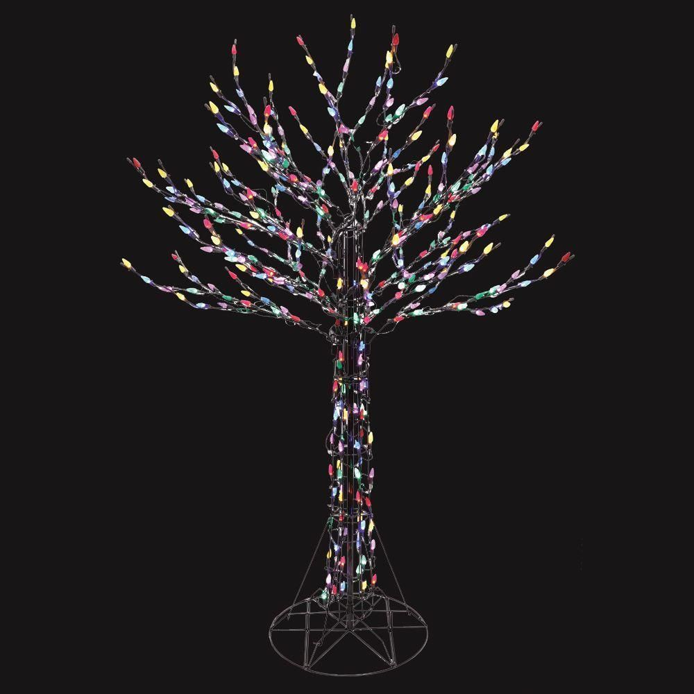 Christmas Outdoor 6ft Lighted Tree Sculpture Yard Art Lawn Led Lighting Decor Unbranded Christmas Yard Decorations Tree Sculpture Deciduous Trees