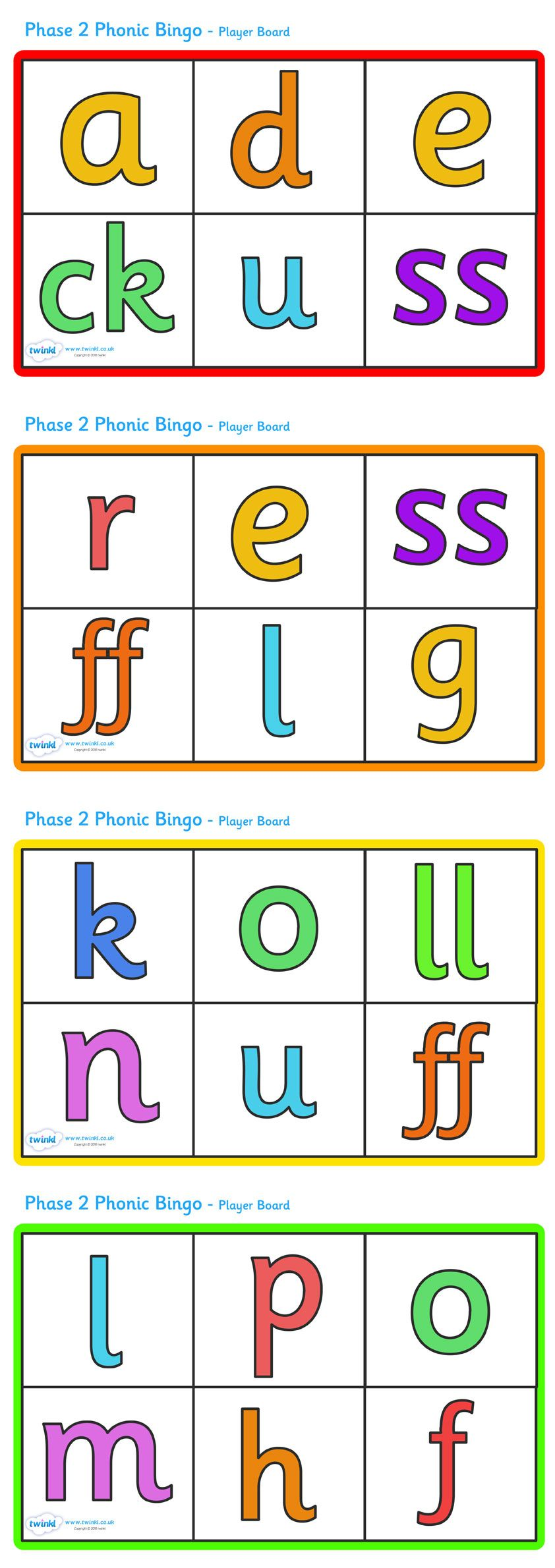 Phase 2 Phonic Bingo and Lotto - Pop over to our site at