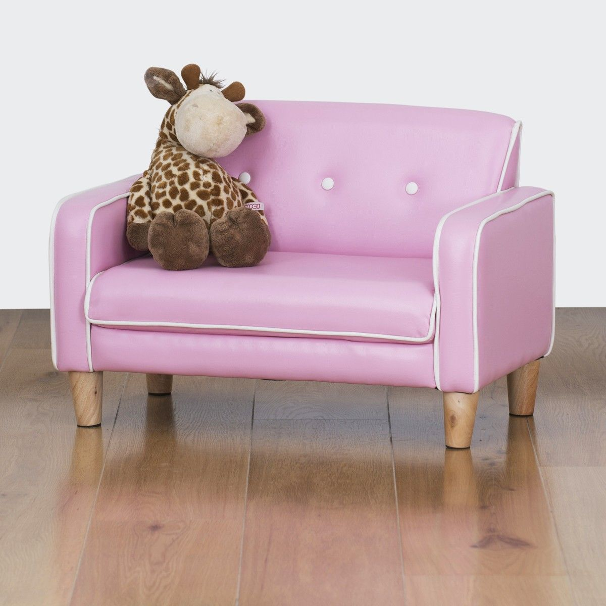 Elegant El Nino Kids Sofa   Bubblegum Pink   $99.00