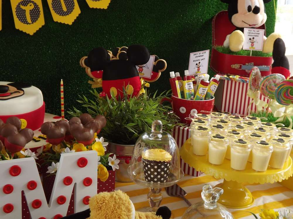 Amazing Mickey Mouse birthday party! See more party planning ideas at CatchMyParty.com!