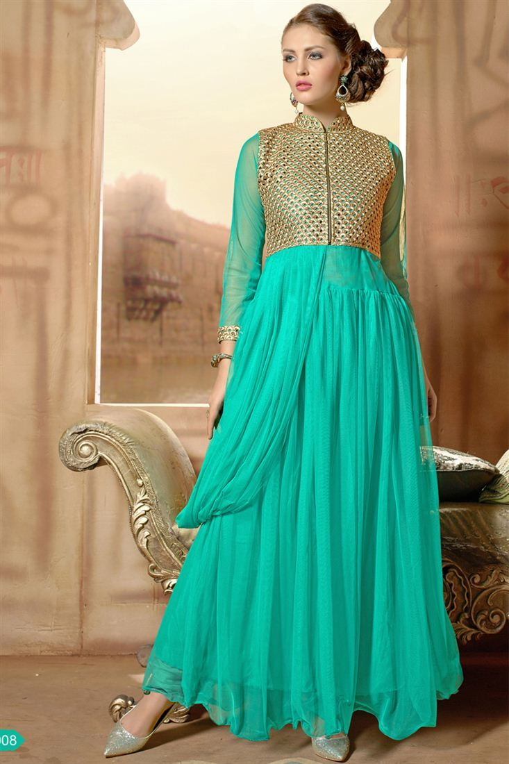 Gleaming Evening Party Wear Designer Gown Just Only Rs 2575